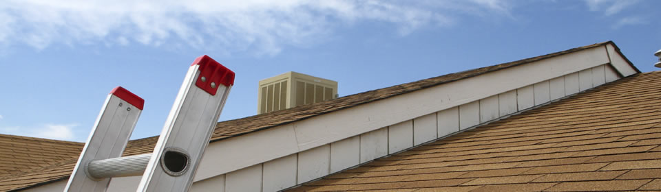 ladder bij dak